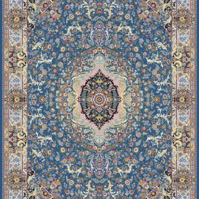 ارکیده آبی/دنیای فرش/فرش ایرانی/فرش ماشینی/donyayfarsh