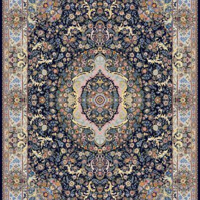 ارکیده سرمه ای/دنیای فرش/فرش ایرانی/فرش ماشینی/donyayfarsh
