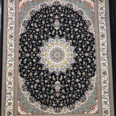 اصفهان سرمه ای/دنیای فرش/فرش ایرانی/فرش ماشینی/donyayfarsh