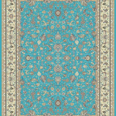 افشان اصفهان آبی/دنیای فرش/فرش ایرانی/فرش ماشینی/donyayfarsh