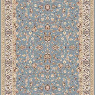 افشان درباذی آبی/دنیای فرش/فرش ایرانی/فرش ماشینی/donyayfarsh