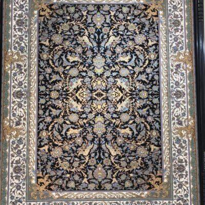 افشان فرنگ سرمه ای/دنیای فرش/فرش ایرانی/فرش ماشینی/donyayfarsh