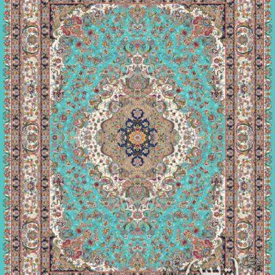 الدوز آبی/دنیای فرش/فرش ایرانی/فرش ماشینی/donyayfarsh