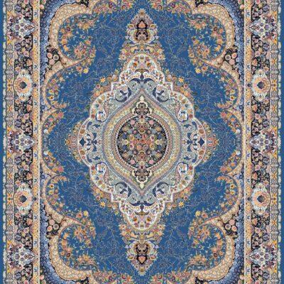 السا آبی/دنیای فرش/فرش ایرانی/فرش ماشینی/donyayfarsh