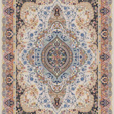 السا کرم حاشیه گلبهی/دنیای فرش/فرش ایرانی/فرش ماشینی/donyayfarsh
