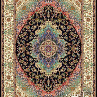 بهاران سرمه ای/دنیای فرش/فرش ایرانی/فرش ماشینی/donyayfarsh