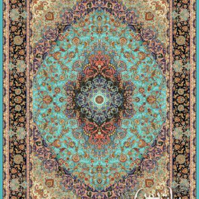 بهاران فیروزه ای/دنیای فرش/فرش ایرانی/فرش ماشینی/donyayfarsh