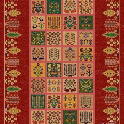 حنان-عنابی/دنیای فرش/فرش ایرانی/فرش ماشینی/donyayfarsh