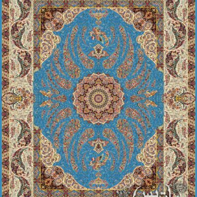 سیمرغ آبی/دنیای فرش/فرش ایرانی/فرش ماشینی/donyayfarsh