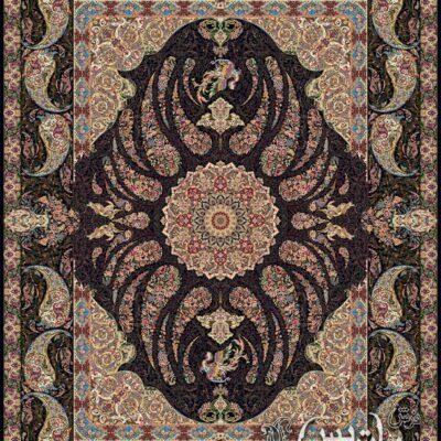 سیمرغ سرمه ای/دنیای فرش/فرش ایرانی/فرش ماشینی/donyayfarsh