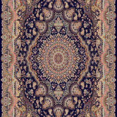 قصر نور سرمه ای/دنیای فرش/فرش ایرانی/فرش ماشینی/donyayfarsh