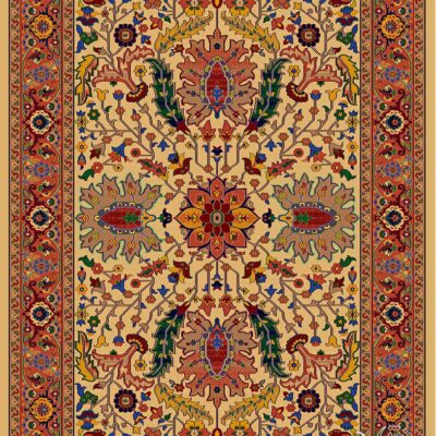 لوتوس-کرم/دنیای فرش/فرش ایرانی/فرش ماشینی/donyayfarsh