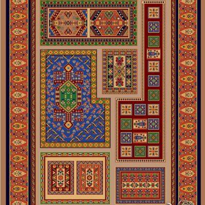مهربان-شکلاتی/دنیای فرش/فرش ایرانی/فرش ماشینی/donyayfarsh