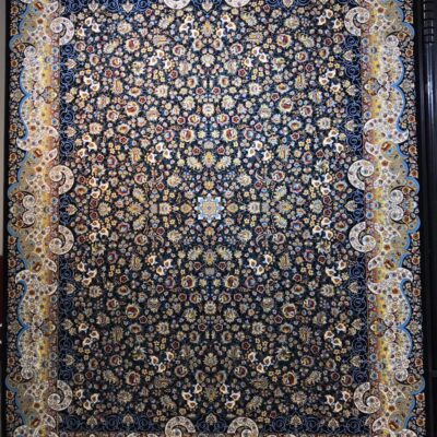 مٍی گل سرمه ای/دنیای فرش/فرش ایرانی/فرش ماشینی/donyayfarsh