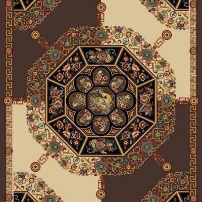 ورساچه 3 قهوه ای/دنیای فرش/فرش ایرانی/فرش ماشینی/donyayfarsh