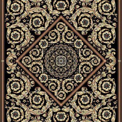 ورساچه 4 قهوه ای/دنیای فرش/فرش ایرانی/فرش ماشینی/donyayfarsh