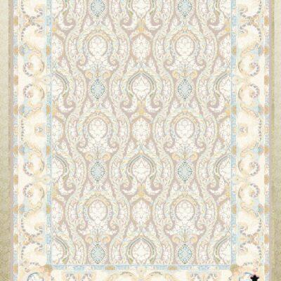 کد 12053 فیلی حاشیه کرم/دنیای فرش/فرش ایرانی/فرش ماشینی/donyayfarsh