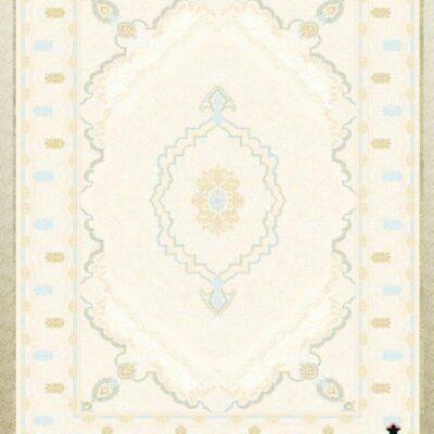 کد 12058 کرم حاشیه کرم/دنیای فرش/فرش ایرانی/فرش ماشینی/donyayfarsh