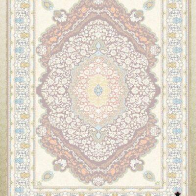کد 12063 یاسی حاشیه آبی/دنیای فرش/فرش ایرانی/فرش ماشینی/donyayfarsh