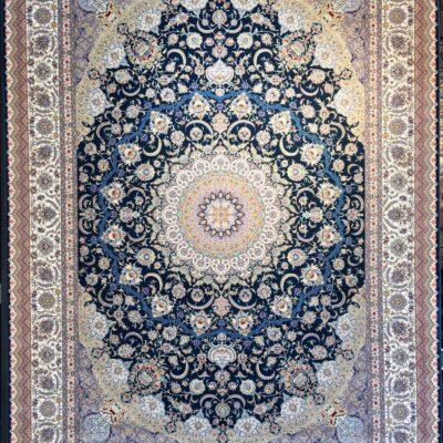 کد 7044-سرمه ای/دنیای فرش/فرش ایرانی/فرش ماشینی/donyayfarsh
