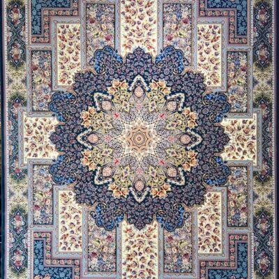 کد 7047 -سرمه ای/دنیای فرش/فرش ایرانی/فرش ماشینی/donyayfarsh