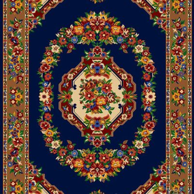 گلاب-سرمه ای/دنیای فرش/فرش ایرانی/فرش ماشینی/donyayfarsh