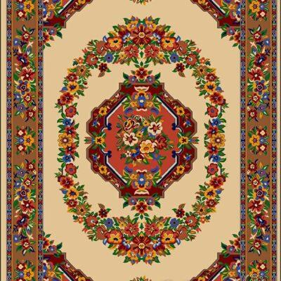 گلاب-کرم/دنیای فرش/فرش ایرانی/فرش ماشینی/donyayfarsh