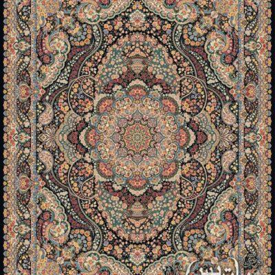 گلشید سرمه ای/دنیای فرش/فرش ایرانی/فرش ماشینی/donyayfarsh