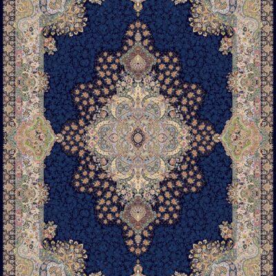 1330 سرمه ای/دنیای فرش/فرش ایرانی/فرش ماشینی/donyayfarsh