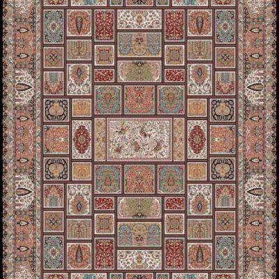 خشتی سرمه ای/دنیای فرش/فرش ماشینی/فرش ایرانی/فرش/فرش کمرد