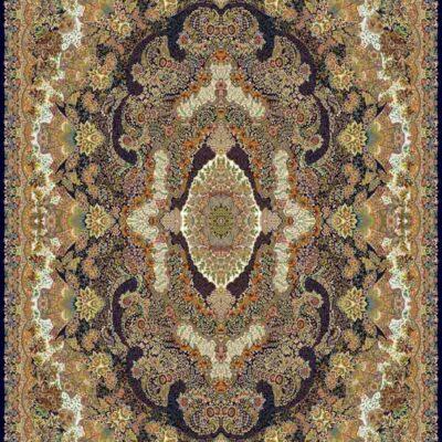 1009 سرمه ای/دنیای فرش/فرش ماشینی/فرش ایرانی/فرش/فرش کمرد