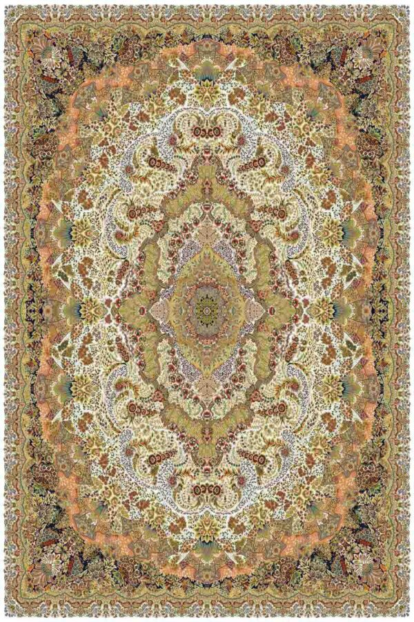 1009 کرم/دنیای فرش/فرش ماشینی/فرش ایرانی/فرش/فرش کمرد