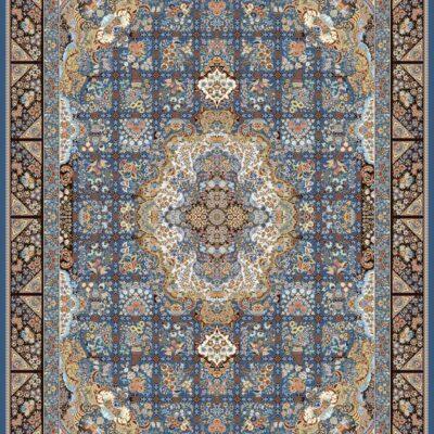 فرش برلیان طرح نیلو کاربنی