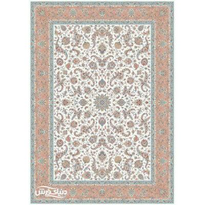 خرید فرش ماشینی برلیان طرح افشان حاشیه گلبهی ( خرید اینترنتی فرش)- خرید اقساطی فرش