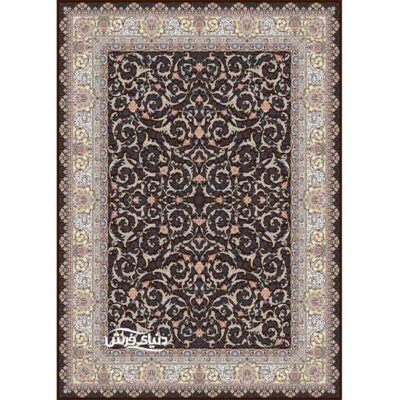 خرید فرش ماشینی برلیان طرح ثنا قهوه ای( خرید اینترنتی فرش)- خرید اقساطی فرش