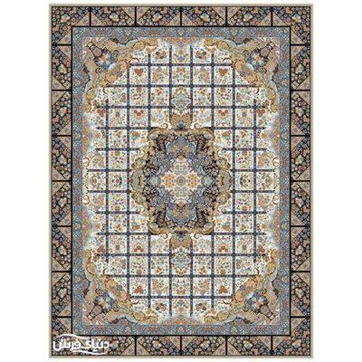 خرید فرش ماشینی برلیان طرح نیلو کرم( خرید اینترنتی فرش)- خرید اقساطی فرش