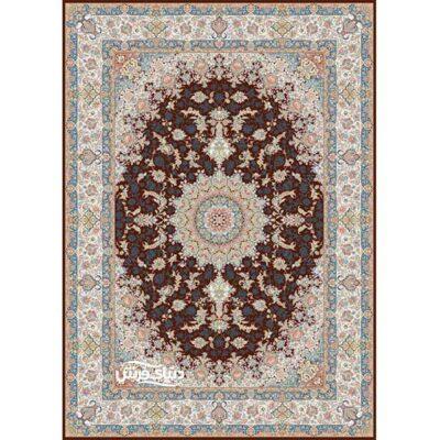 خرید فرش ماشینی برلیان طرح گلستان قهوه ای( خرید اینترنتی فرش)- خرید اقساطی فرش