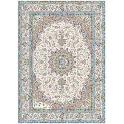 خرید فرش ماشینی برلیان طرح گلستان کرم( خرید اینترنتی فرش)- خرید اقساطی فرش