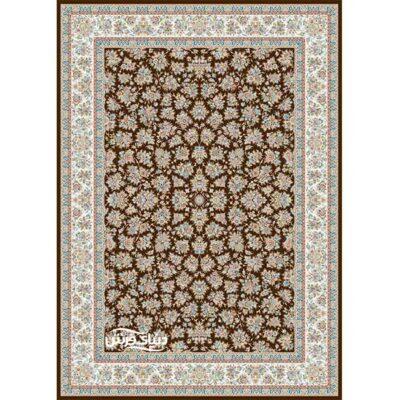 خرید فرش ماشینی برلیان طرح گلپونه قهوه ای( خرید اینترنتی فرش)- خرید اقساطی فرش